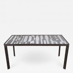 Robert Jean Cloutier Ceramic Black and White Design Low Table by Cloutier - 1477220