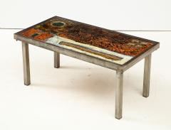 Robert Jean Cloutier Enameled Lava Coffee Table by Robert Jean Cloutier c 1960 - 1865872