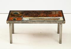 Robert Jean Cloutier Enameled Lava Coffee Table by Robert Jean Cloutier c 1960 - 1865876