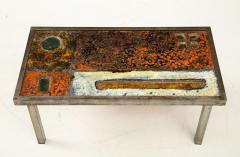 Robert Jean Cloutier Enameled Lava Coffee Table by Robert Jean Cloutier c 1960 - 1865882
