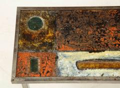 Robert Jean Cloutier Enameled Lava Coffee Table by Robert Jean Cloutier c 1960 - 1865889