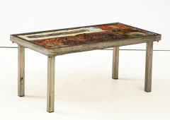 Robert Jean Cloutier Enameled Lava Coffee Table by Robert Jean Cloutier c 1960 - 1865894
