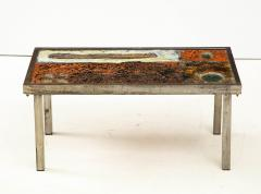 Robert Jean Cloutier Enameled Lava Coffee Table by Robert Jean Cloutier c 1960 - 1865895