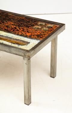 Robert Jean Cloutier Enameled Lava Coffee Table by Robert Jean Cloutier c 1960 - 1865896