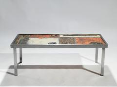 Robert Jean Cloutier French Robert and Jean Cloutier ceramic coffee table 1950s - 993024