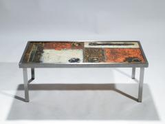 Robert Jean Cloutier French Robert and Jean Cloutier ceramic coffee table 1950s - 993029
