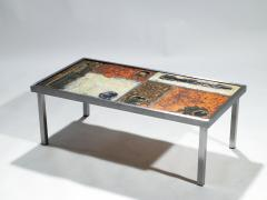 Robert Jean Cloutier French Robert and Jean Cloutier ceramic coffee table 1950s - 993032