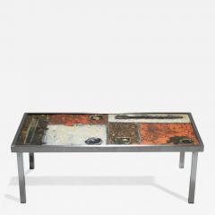 Robert Jean Cloutier French Robert and Jean Cloutier ceramic coffee table 1950s - 997418