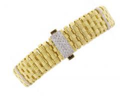 Roberto Coin Roberto Coin Appassionata Five Row Diamond Gold Bracelet - 436075
