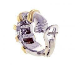 Roberto Coin Roberto Coin s Nabucco Diamond Hoop Earrings - 458574