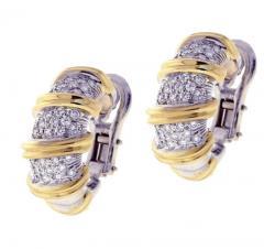 Roberto Coin Roberto Coin s Nabucco Diamond Hoop Earrings - 458575