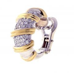 Roberto Coin Roberto Coin s Nabucco Diamond Hoop Earrings - 458576