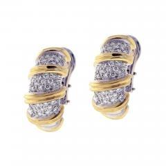 Roberto Coin Roberto Coin s Nabucco Diamond Hoop Earrings - 462332