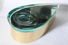 Roberto Giulio Rida Sculptured Glass Box by R Rida made in Italy - 468571