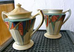 Robeson Rochester Corporation Extremely Rare Modernistic Royal Rochester Coffee Service - 127533