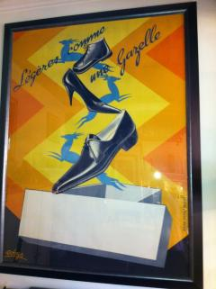 Robys Gazelle French Shoe Poster Signed Robys - 79251