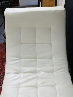 Roche Bobois Tufted Ivory Leather Lounge Chair in the manner of Roche Bobois - 1656386