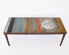 Roger Capron COFFEE TABLE BY ROGER CAPRON CERAMIC TABLE AU SOLEIL SUN MOTIF VALLAURIS C 1965 - 1928390