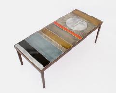 Roger Capron COFFEE TABLE BY ROGER CAPRON CERAMIC TABLE AU SOLEIL SUN MOTIF VALLAURIS C 1965 - 1928398