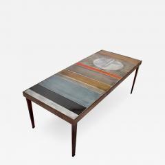 Roger Capron COFFEE TABLE BY ROGER CAPRON CERAMIC TABLE AU SOLEIL SUN MOTIF VALLAURIS C 1965 - 1929769