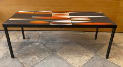 Roger Capron Ceramic Coffee Table Navettes France 1960s - 1928620
