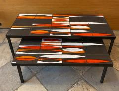 Roger Capron Ceramic Coffee Table Navettes France 1960s - 1928623