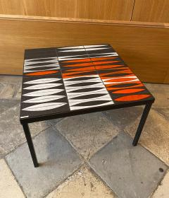 Roger Capron Ceramic Coffee Table Navettes France 1960s - 1928733