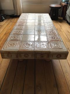 Roger Capron Ceramic coffee table France 1960s - 2061993