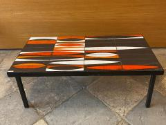 Roger Capron Ceramic coffee table Navettes France 1960s - 1928628