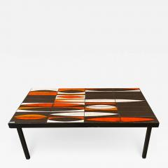 Roger Capron Ceramic coffee table Navettes France 1960s - 1938354