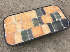 Roger Capron Ceramic coffee table model Shogun Vallauris France early 1970s  - 2060455