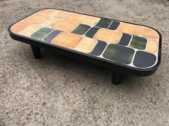 Roger Capron Ceramic coffee table model Shogun Vallauris France early 1970s  - 2060456