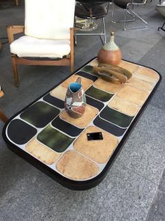 Roger Capron Ceramic coffee table model Shogun Vallauris France early 1970s  - 2060461