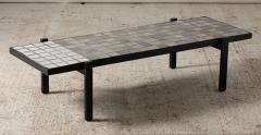 Roger Capron Coffee table in small ceramic tiles by Roger Capron Vallauris France circa 1950 - 1936659