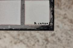 Roger Capron Coffee table in small ceramic tiles by Roger Capron Vallauris France circa 1950 - 1936661