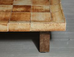 Roger Capron Cuvette Coffee Table with Ceramic Tile Top by Roger Capron France circa 1960 - 1958863