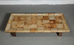 Roger Capron Cuvette Coffee Table with Ceramic Tile Top by Roger Capron France circa 1960 - 1958865
