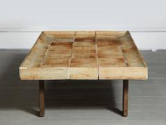 Roger Capron Cuvette Coffee Table with Ceramic Tile Top by Roger Capron France circa 1960 - 1958869