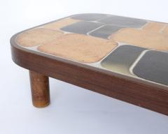 Roger Capron FRENCH CERAMIC ARTIST ROGER CAPRON CERAMIC TILE COFFEE TABLE MODEL SHOGUN - 1894901