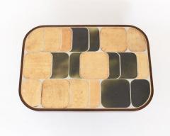 Roger Capron FRENCH CERAMIC ARTIST ROGER CAPRON CERAMIC TILE COFFEE TABLE MODEL SHOGUN - 1894906