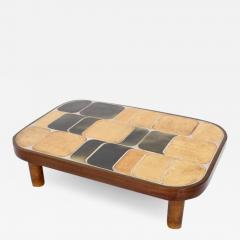 Roger Capron FRENCH CERAMIC ARTIST ROGER CAPRON CERAMIC TILE COFFEE TABLE MODEL SHOGUN - 1898843