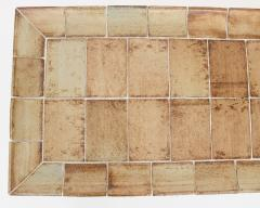Roger Capron ROGER CAPRON FRENCH 1970S CERAMIC TILE COFFEE TABLE MODEL CUVETTE WARM COLORS - 1908091