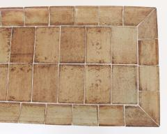 Roger Capron ROGER CAPRON FRENCH 1970S CERAMIC TILE COFFEE TABLE MODEL CUVETTE WARM COLORS - 1908092