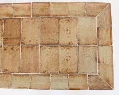 Roger Capron ROGER CAPRON FRENCH 1970S CERAMIC TILE COFFEE TABLE MODEL CUVETTE WARM COLORS - 1908093