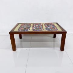 Roger Capron RUSSIA Colorful Ceramic Tiled Table Top Wood Coffee Table Roger Capron 1970s - 1988803