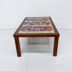 Roger Capron RUSSIA Colorful Ceramic Tiled Table Top Wood Coffee Table Roger Capron 1970s - 1988805