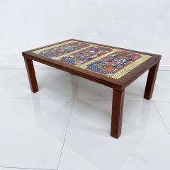 Roger Capron RUSSIA Colorful Ceramic Tiled Table Top Wood Coffee Table Roger Capron 1970s - 1988806