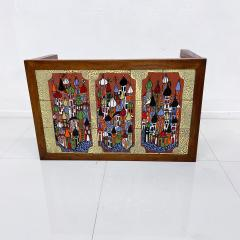 Roger Capron RUSSIA Colorful Ceramic Tiled Table Top Wood Coffee Table Roger Capron 1970s - 1988807