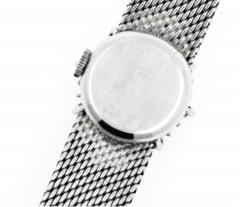 Rolex Rare 1960s 18kt White Gold Double Diamond Sun Spray Motif Mesh Bracelet Watch - 1204703