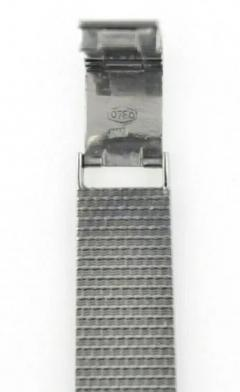 Rolex Rare 1960s 18kt White Gold Double Diamond Sun Spray Motif Mesh Bracelet Watch - 1205129